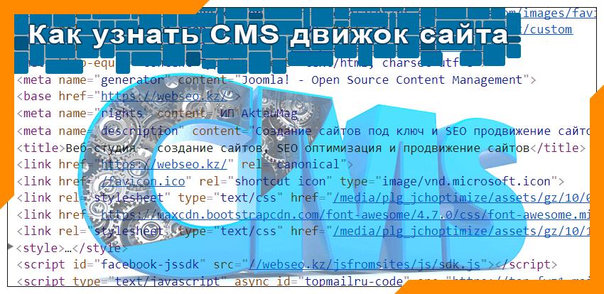 Как узнать CMS